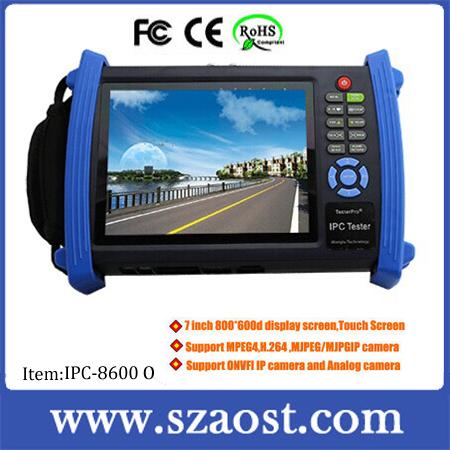 hot 7 inch screen WIFI digital fiber optic cctv tester for ip camera system model IPC-8600O(China (Mainland))