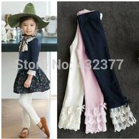 Hot selling 2014 Spring-autumn flower girl pants baby girl leggings kids cotton fashion legging children pant girls' leggings