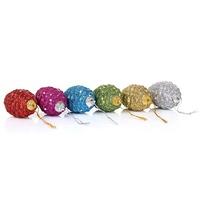(6pcs On a Christmas Tree)Christmas Decoration Supplies Christmas color pine cone (6pcs=1lots)