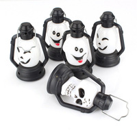 Colorful Flash Skull Grimace LED Lantern Night Light Lamp Halloween Decorations
