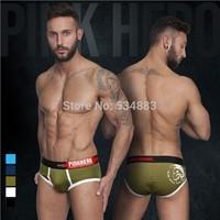 Free shipping 20 pcs/lot PINKHERO high quality Men's briefs Shorts 5 colors sexy male underwear hot sale men panties