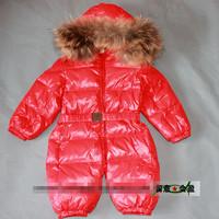 winter thicken warm toddler / baby duck down jacket coat fur collar baby outdoor snow wear