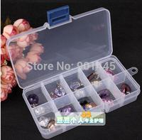 1Pc 10grid plastic Transparent jewel case box medical box (2014192)