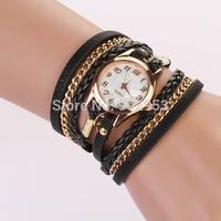 Women Dress Watches Women's Punk Retro Leather Watch watch leather bracelet Quartz Watches luxury colorful wristwatch