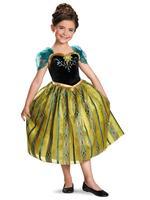 Hot Frozen princess Anna dress/Good quality girls beautiful cosplay dress/2014 popular Frozen costume