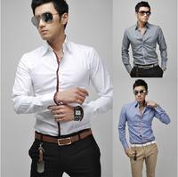 2014 Fall New Men Shirts Men's casual long-sleeved shirts 4color