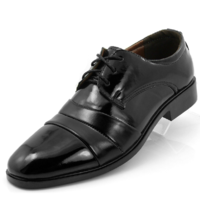 Hot-selling male pointed toe leather fashion commercial black japanned leather casual shoes wedding shoes leather work