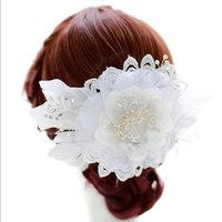 Free Shipping Wedding headdress large European and American chiffon elegant handmade flowers