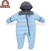 new 2014 autumn winter romper baby clothing infant cotton rompers newborn baby boy warm jumpsuit baby costume children outerwear