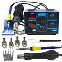 2014 NEW 862D+ SMD Soldering Iron Hot Air Rework Station LED Display 4 Nozzles 110V/220V