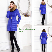 Free DHL shipping New Design winter Famous Brand Monclearing women hoodie jackets lady White goose down wadded coats