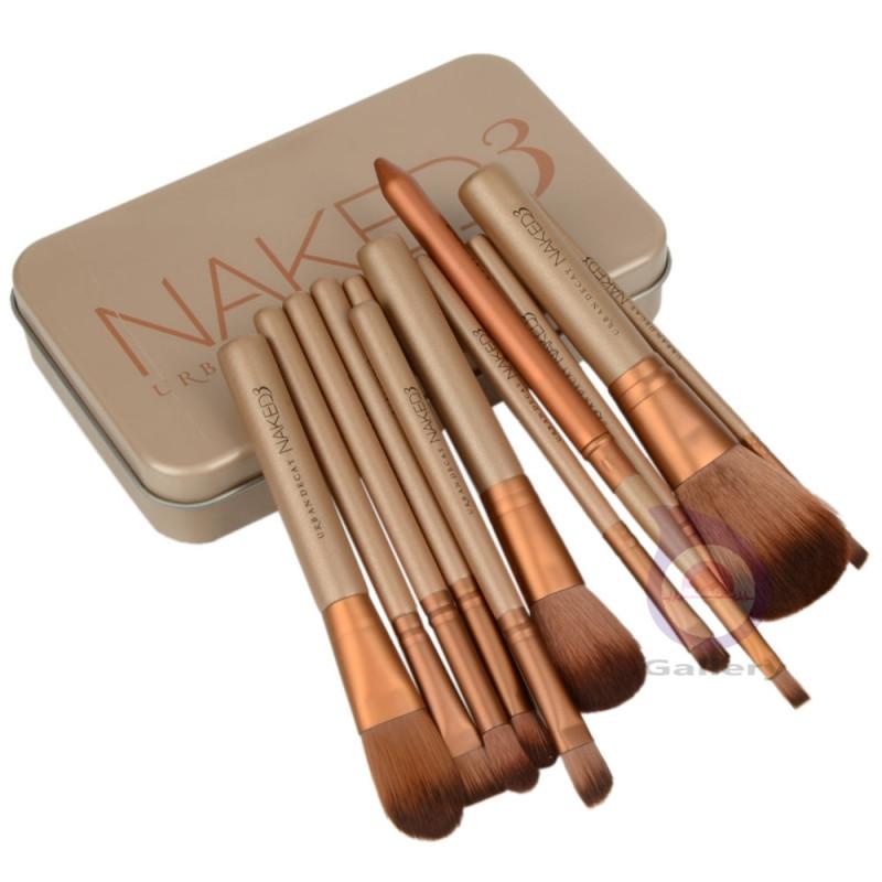 12 pcs NAKE 3 naked kit de pinceis de pinceaux maquillage maquiagen pincel makeup brushes set