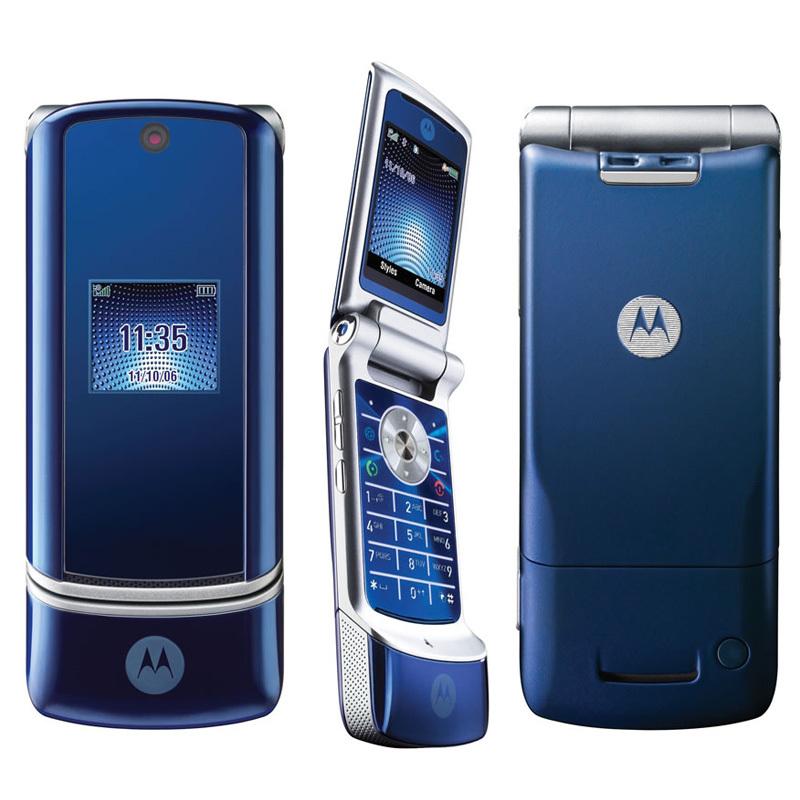 Original refurbished MOTOROLA KRZR K1 Mobile Phone Bluetooth 2MP Camera(China (Mainland))