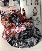 print hip hop men Bucket caps outdoor protection fashion women fishing sun hat doule side