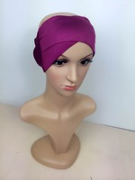 mu616 soft cotton two kinds of method to wear muslim islamic hijab scarf inner hat underscarf wholesale