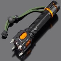 007-T6 2014 New Design LED Flashlight Aluminium Alloy  Glare Zoom Flashlights attack head self-defense electric torch