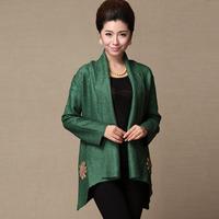 13 autumn women's quinquagenarian fashion cape short jacket elegant mother clothing turn-down collar long-sleeve cardigan top