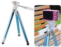 Fotopro FY-583 Flexible Stainless Steel Travel Tripod Spider Mount Holder for Digital Cameras, Mobile Phones (Blue)