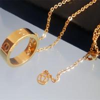 Luxury Brand Screws Round Pendant Short Chain Choker Necklace Women Titanium Stainless Steel 18k Gold Plated Necklace Bijou Gift