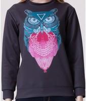 warm brand 2014 Europe New Fashion autumn Cute Owl printed sweatshirt women hoody Casual Hoodies Pullover for Women coat W00444