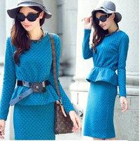European Style Spring Winter Warm Women Crop Top And Skirt Set Elegant 2 Piece Set Women Skirt Top Clothing Set