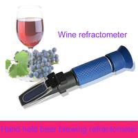 Hand held 0-32%mass sacch grape wine refractometer P-RHB-32DATC