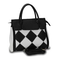 2 Colors New Fashion Patchwork Women Shoulder Bag European And American Style Designer Ladies PU Leather Tote Handbag WE018C