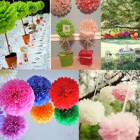 13cm Tissue Paper Flowers Paper Pom Poms Balls Party Decor Craft Wedding Multi Colors Option