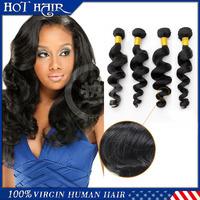 Wholesale hair loose wave Malaysian virgin hair bundles 4Pcs/ Lot 100%human hair weave unprocessed virgin Malaysian hair weaves