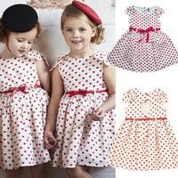 Trustworthy new girl dress Girls Kids Children Popular Sleeveless Dress Party Clothes gfit Cami Full of love, heart-shaped