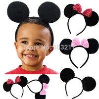 Birthday party headband Mickey Minnie Mouse Ears Headbands Boys Girls Headwear Cartoon mickey Cosplay Christmas Hair Accessories