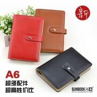 Fashion European style A6 loose-leaf Discolor PU notebook