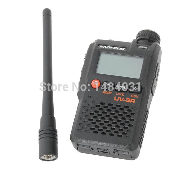 Free Shipping Baofeng UV-3R 3W Dual Band Handheld Radio Interphone Walkie Talkie(China (Mainland))