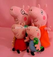 Peppa pig family set of plush toys birthday Pepe pig friend +Peppa Pig pure English Full HD DVD