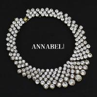 2014 Fashion Luxury Za Crystal Rhinestone Chunky Collars Necklace Vintage Statement Necklaces & Pendants Women Jewelry