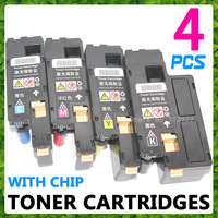 4 x Color Toner Cartridges For Xerox Phaser 6010 6000 Workcentre 6015 6015V, With Chip 106R01627 /106R01628/106R01629/106R01630