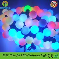 2014 NEW AC220V 40leds/lot dream color fairy decoration string light led Christmas bulb for outdoor garden tree garland lighting