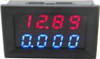 """5pcs/lot red+blue dual 0.28 """" LED  2in1 0-33.00V/0-3.000A digital voltmeter ammeter volt amp panel meter voltage current monitor"""