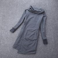 Free shipping Sweatshirt autumn women's elegant plus size slim all-match long-sleeve T-shirt turn-down collar