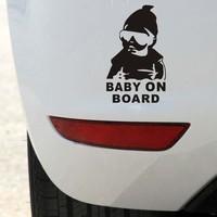 Car Sticker Cool Baby on Board Car Styling Motorcycle Sticker Vinyl Deca Reflective Personalized Waterproof