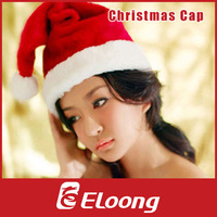 Eloong Christmas decoration christmas hats hight quality plush christmas hat For Man and Woman santa claus costume clothes H012