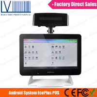 Android  POS Touch Screen POS Cash Barcode Scanner and MSR