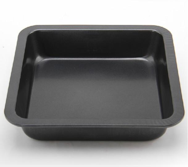 Diy Non,stick Carbon Steel Square Deepen Cake Pan Pizza Plate Baking Pan(China (Mainland))