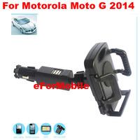 New Car Charger Holder Mobile Phone Car Holder Rotary Holder+stylus For Motorola Moto G (2014) (2nd Gen.)Moto G2 Moto G+1