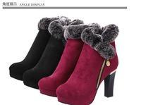 2014 autumn winter ankle boots women winter shoes flat heel casual cute warm shoes women fashion snow boots women's boots616