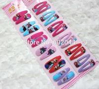Wholesale Lots ~ Cartoon Character Frozen  Hair Clip (10Packet/60 Pair/120pcs)