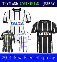 A+++ Home Away Black 14 15 New Corinthianers Top Men Soccer Jersey Thailand Shirt Luciano Guerrero Jadson