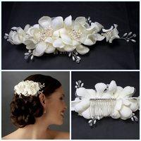Free shipping Wedding handmade European style wedding photos the bride wedding head flower Fashion wedding bride hair accessory