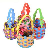 Free shipping DIY Kids Craft Kit EVA Knit Basket Woven Bag - 20sets/lot LA0171