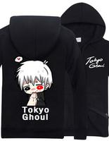 New Winter Cartoon Tokyo ghoul Hoodie Ken Kaneki Costume Anime Casual Men Women Thick Warm Coat Sweatshirt Multicolor
